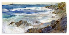 The Shores Of Falmouth Beach Towel