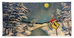 The Signs Of Christmas Beach Towel by Randy Burns