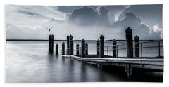 Beach Towel featuring the photograph The Silver Lining by Robin-Lee Vieira
