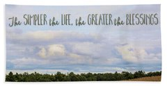 The Simpler Life Beach Towel