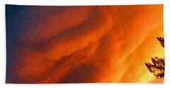 The Sky Is Burning Beach Sheet