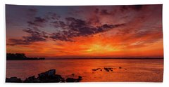 The Sky Is On Fire Beach Towel