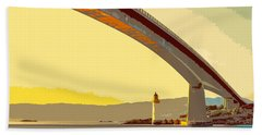 The Skye Bridge And Kyleakin Lighthouse  Beach Towel