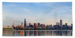 The Skyline Of Chicago At Sunrise Beach Sheet