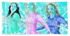 The Snowflake Ladies Beach Sheet by Debra Baldwin