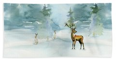 The Soft Arrival Of Winter Beach Towel by Colleen Taylor