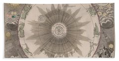 The Solar System - The Planetary System - Copernicus Model - Astronomical Chart - Celestial Chart Beach Towel