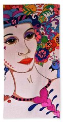 The Songbird Beach Towel by Alison Caltrider