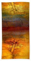 The Soul Dances Like A Tree In The Wind Beach Towel
