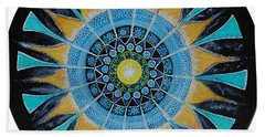 Beach Sheet featuring the painting The Soul Mandala by Patricia Arroyo