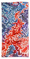The Sound Of Fireworks Beach Towel
