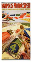 The Speedway Beach Towel by Gary Grayson