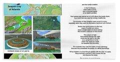 The Spirit Of Atlantis Poem Beach Towel