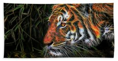 The Spirit Of The Tiger  Beach Towel
