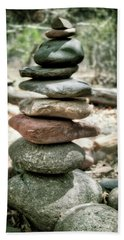 The Stack - Rock Cairn At Buddha Beach - Sedona Beach Towel
