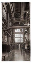 The Stegmaier Brewery Boiler Room Wilkes Barre Pennsylvania 1930's Beach Towel