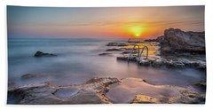The Steps At Sunrise. Beach Towel