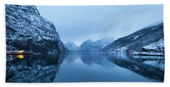 Beach Towel featuring the photograph The Stillness Of The Sea by David Chandler