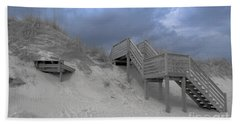 The Storm Is Here Beach Sheet by Linda Mesibov