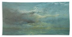 Beach Towel featuring the painting The Storm by Jane See