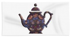 The Strawberry Thief Pattern Teapot Beach Sheet