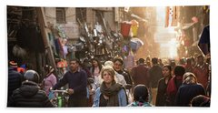 The Streets Of Kathmandu Beach Sheet