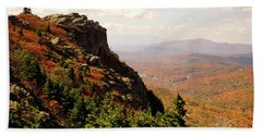Beach Towel featuring the photograph The Summit In Fall by Meta Gatschenberger