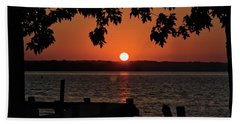 Beach Towel featuring the photograph The Sun Rises Over The Bay by Mark Dodd