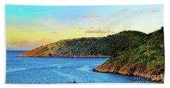 The Sun Sets On St. Thomas Beach Towel