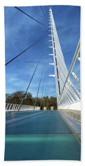 Beach Towel featuring the photograph The Sundial Bridge by James Eddy