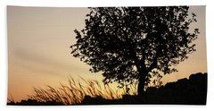 Sunset On The Hill Beach Sheet