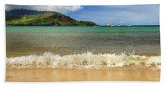 The Surf At Hanalei Bay Beach Towel