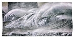 Beach Towel featuring the digital art The Surf by Mimulux patricia No