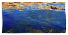 The Surface Is A Reflection  Beach Sheet by Lyle Crump