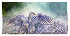 The Swan's Song Beach Towel