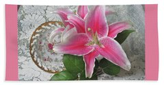 Beach Towel featuring the photograph The Sweetest Glow by Nancy Lee Moran