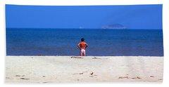 The Swimmer Beach Sheet by Ethna Gillespie