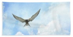The Tern - Elegance In Flight Beach Towel