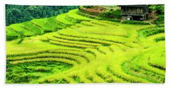 The Terraced Fields Scenery In Autumn Beach Towel