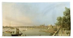 The Thames From The Terrace Of Somerset House Beach Towel