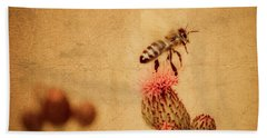 The Thistle And The Bee Beach Towel