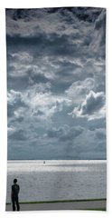 Beach Towel featuring the photograph The Threatening Storm by Steven Richman