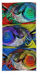The Three Fishes Beach Towel