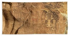 The Three Kings Petroglyph Panel Beach Towel