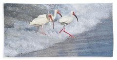 The Tide Of The Ibises Beach Towel