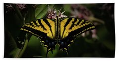 The Tiger Swallowtail Beach Towel by Ernie Echols