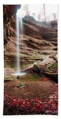 The Tiny Waterfall Beach Towel