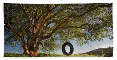 The Tire Swing Beach Towel by Endre Balogh