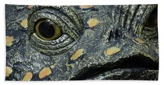 The Toad In The Garden Beach Towel
