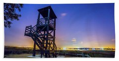 The Tower And The Stars Beach Towel